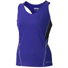 Marmot Distance Tank Top - UPF 50, Built-In Bra (For Women) in Electric Blue - Closeouts