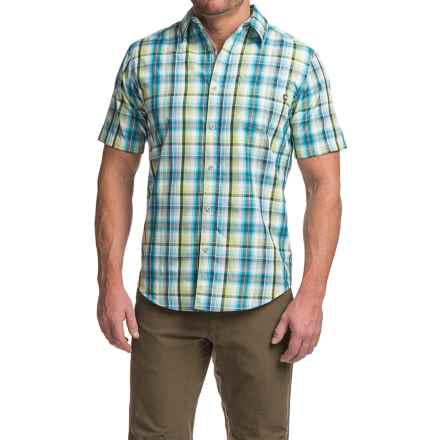 Marmot Dobson Shirt - UPF 50, Short Sleeve (For Men) in Green Envy - Closeouts