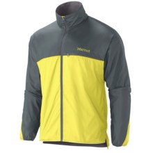 Marmot DriClime® Windshirt (For Men) in Acid Yellow/Cinder - Closeouts