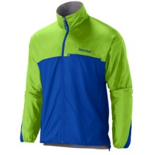Marmot DriClime® Windshirt (For Men) in Dark Azure/Green Envy - Closeouts