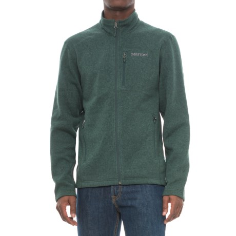 Marmot Drop Line Fleece Jacket (For Men) in Dark Spruce