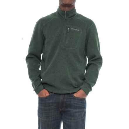 Mens jackets coats average savings of 53 at sierra trading post marmot drop line pullover jacket zip neck for men in dark spruce gumiabroncs Gallery