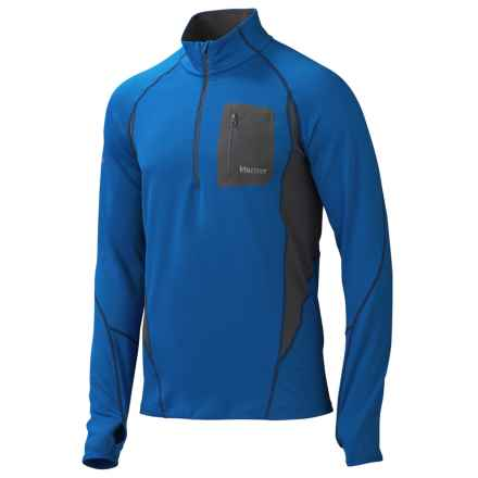 Marmot Elance Pullover - UPF 50, Zip Neck, Long Sleeve (For Men) in Peak Blue - Closeouts