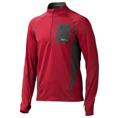 Marmot Elance Shirt UPF 50, Zip Neck, Long Sleeve (For Men)