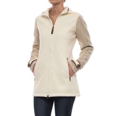 Marmot Eliana Fleece Sweater - Wool Blend (For Women) in Oatmeal/Dark Khaki Heather - Closeouts