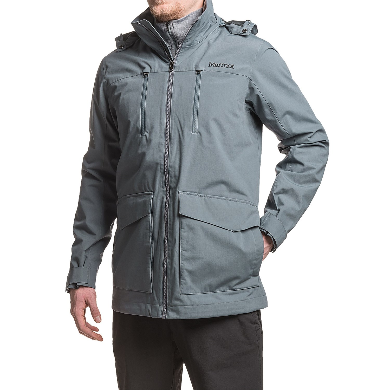 Marmot men's jacket - Marmot Elmhurst Jacket Waterproof For Men In Steel Onyx