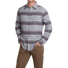 Marmot Enfield Flannel Shirt - UPF 50+, Long Sleeve (For Men) in Steel Heather Stripe - Closeouts