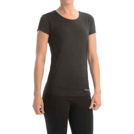 Marmot Essential Shirt - UPF 25+, Short Sleeve (For Women) in Black - Closeouts