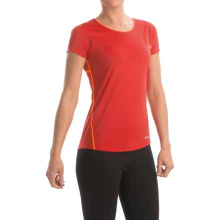 Marmot Essential Shirt - UPF 25+, Short Sleeve (For Women) in Coral Sunset/Bright Orange - Closeouts