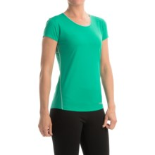 Marmot Essential Shirt - UPF 25+, Short Sleeve (For Women) in Gem Green/Ice Green - Closeouts