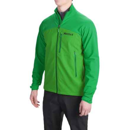 Marmot Estes M3 Soft Shell Jacket (For Men) in Kale Green/Green Bean - Closeouts