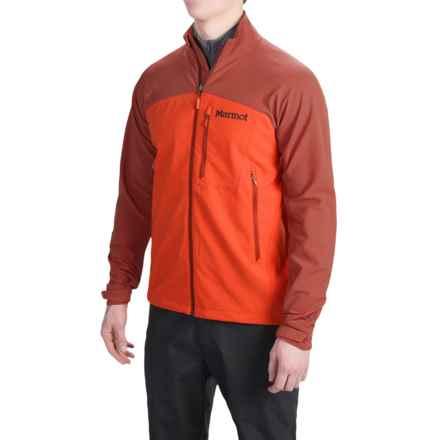 Marmot Estes M3 Soft Shell Jacket (For Men) in Sunset Orange/Dark Rust - Closeouts