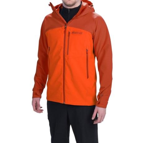 Marmot Estes Soft Shell Jacket (For Men) in Sunset Orange/Rusted Orange