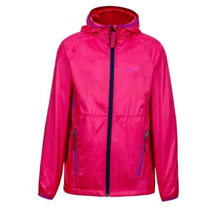 Marmot Ether Hoodie Jacket - DWR (For Girls) in Gypsy Pink/Vibrant Fuchsia - Closeouts