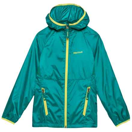 Marmot Ether Hoodie Jacket - DWR (For Girls) in Malachite - Closeouts