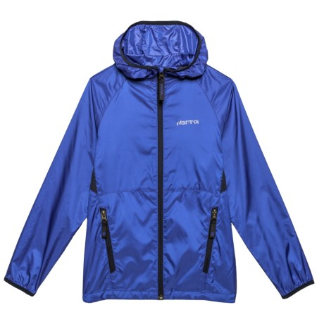Marmot Ether Hoodie - Zip Front (For Little and Big Boys) in Surf/Arctic Navy