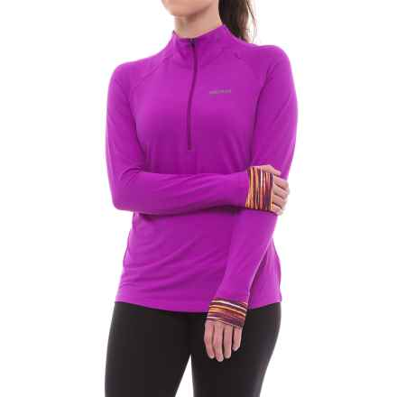 Marmot Excel Shirt - UPF 50+, Zip Neck, Long Sleeve (For Women) in Neon Berry/Deep Plum Sprint - Closeouts