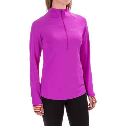Marmot Excel Shirt - UPF 50+, Zip Neck, Long Sleeve (For Women) in Neon Berry/Deep Stone - Closeouts