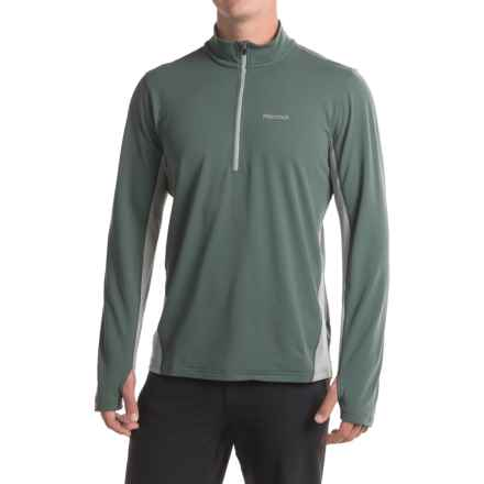 Marmot Excel Shirt - UPF 50, Zip Neck, Long Sleeve (For Men) in Dark Zinc/Grey Storm - Closeouts