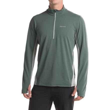 Marmot Excel Shirt - UPF 50, Zip Neck, Long Sleeve (For Men) in Dark Zinc/Grey Storm - Closeouts
