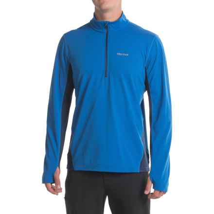 Marmot Excel Shirt - UPF 50, Zip Neck, Long Sleeve (For Men) in True Blue/Arctic Navy - Closeouts