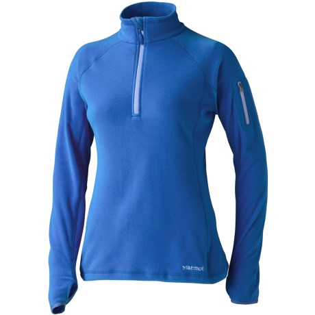 Marmot Flashpoint Pullover - Polartec® Classic 100 Microfleece, Zip Neck, Long Sleeve (For Women) in Blue Bay