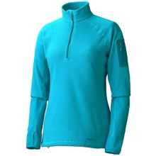 Marmot Flashpoint Pullover - Polartec® Classic 100 Microfleece, Zip Neck, Long Sleeve (For Women) in Blue Sea - Closeouts