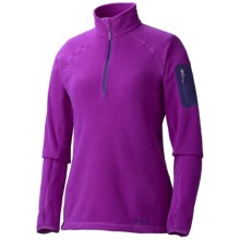 Marmot Flashpoint Pullover - Polartec® Classic 100 Microfleece, Zip Neck, Long Sleeve (For Women) in Bright Berry - Closeouts