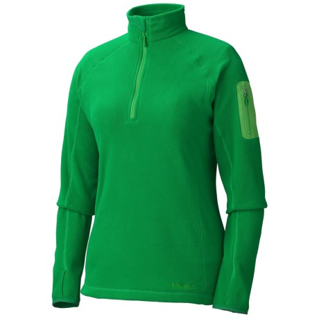 Marmot Flashpoint Pullover - Polartec® Classic 100 Microfleece, Zip Neck, Long Sleeve (For Women) in Dark Fern