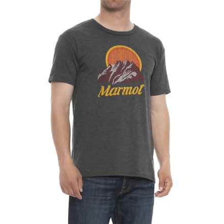 Marmot Flatridge T-Shirt - Short Sleeve (For Men) in Charcoal - Closeouts