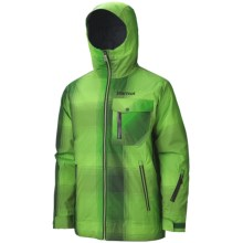 Marmot Flatspin Ski Jacket - Waterproof, Insulated (For Men) in Bright Grass Plaid - Closeouts