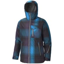 Marmot Flatspin Ski Jacket - Waterproof, Insulated (For Men) in Navy Plaid - Closeouts