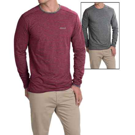 Marmot Folsom Shirt - UPF 30, Reversible, Long Sleeve (For Men) in Brick/Slate Grey Heather - Closeouts