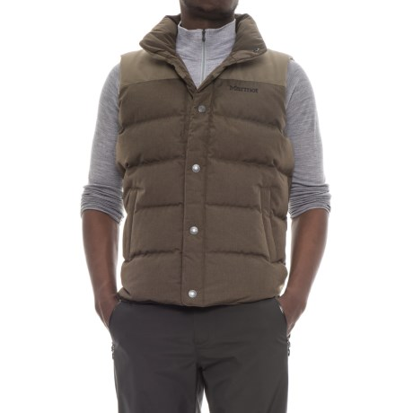 Marmot Fordham Down Vest - 700 Fill Power (For Men) in Deep Olive