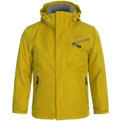 Marmot Freerider MemBrain® Ski Jacket - Waterproof (For Little and Big Boys) in Green Mustard