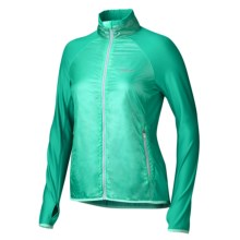 Marmot Frequency Hybrid Jacket - Polartec® Power Dry® High Efficiency, Full Zip (For Women) in Ice Green/Lush - Closeouts