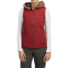 Marmot Furlong Soft Shell Vest (For Women) in Dark Crimson - Closeouts