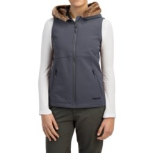 Marmot Furlong Soft Shell Vest (For Women) in Dark Steel - Closeouts