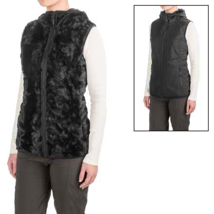 Marmot Furtastic Vest - Reversible (For Women) in Black - Closeouts