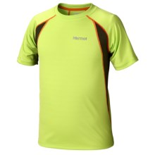 Marmot Fuse Shirt - UPF 50, Short Sleeve (For Boys) in Green Lime/Greenland - Closeouts