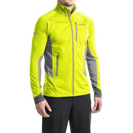Marmot Fusion Soft Shell Jacket (For Men) in Hyper Yellow/Steel - Closeouts