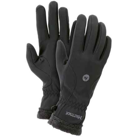 Marmot Fuzzy Wuzzy Gloves (For Women) in Black - Closeouts