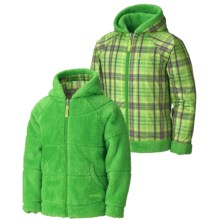 Marmot Gemini Jacket - Fleece, Reversible (For Girls) in Leaf/Green Envy Plaid - Closeouts