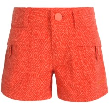 Marmot Ginny Shorts - UPF 30 (For Little and Big Girls) in Emberglow Ikat - Closeouts
