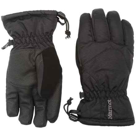Marmot Glade Ski Gloves with Fleece Lining - Waterproof, Insulated (For Little and Big Girls) in Black - Closeouts