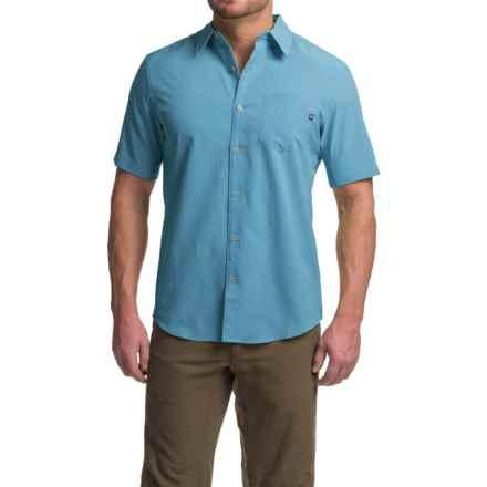 Marmot Goat Peak Shirt - UPF 20, Short Sleeve (For Men) in Crystal Blue - Closeouts