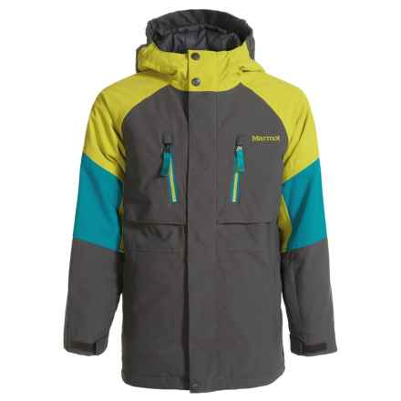Marmot Gold Star Ski Jacket - Waterproof, Insulated (For Boys) in Slate Grey/Citronelle - Closeouts