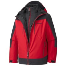 Marmot Gorge Component 3-in-1 Jacket - Waterproof, Removable Liner (For Boys) in Team Red/Black - Closeouts