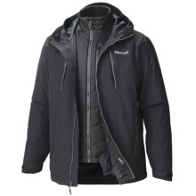 Marmot Gorge Component Jacket - Waterproof, 3-in-1 (For Men) in Black - Closeouts