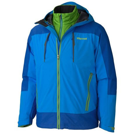 Marmot Gorge Component Jacket - Waterproof, 3-in-1 (For Men) in Cobalt Blue/Dark Azure